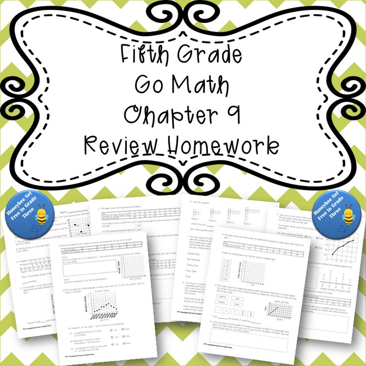 Fifth Grade Go Math Chapter 9 Review Homework in 2020 | Go ...