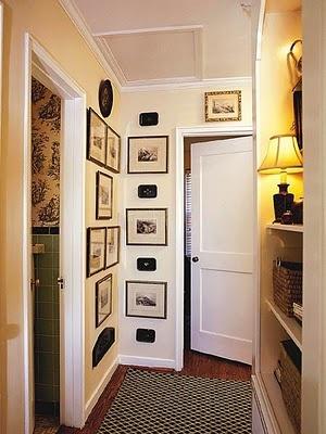 awesome idea. hallway frame collage.
