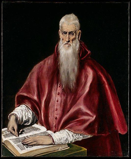 Saint Jerome as Scholar El Greco (Domenikos Theotokopoulos) (Greek, Candia [Iráklion] 1540/41–1614 Toledo)