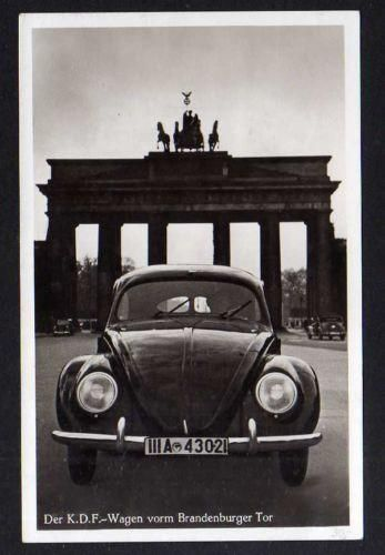 1939 KDF-wagen at Brandenburg Gate  the darkest time of my country kdf-Wagen is the name of the Beetle before 45