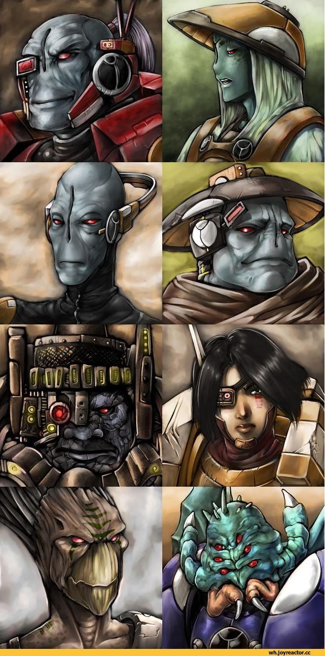 warhammer 40000,фэндомы,tau empire,kroot,Fire warrior,gue'vesa