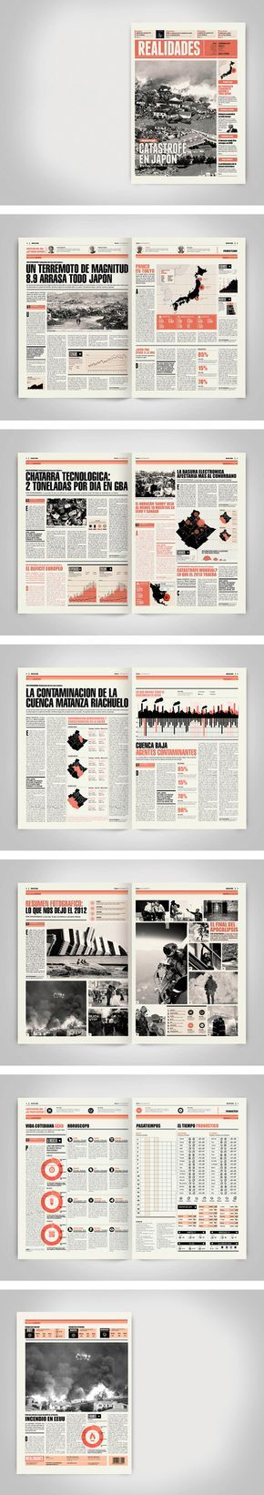 love the mods in between text great modular design  Newspaper Design by Boris Vargas Vasquez
