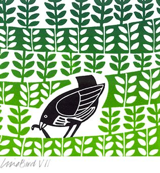 Linda M Farquharson-linocut.  I stumbled upon this cute print.