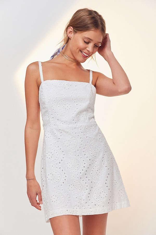 e5b56a8a238 Kimchi Blue Square-Neck A-Line Eyelet Dress
