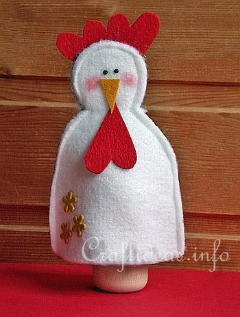 Felt Crafts - Sewing Crafts - Spring and Easter Crafts - Felt Hen Egg Cosy / Egg Warmer