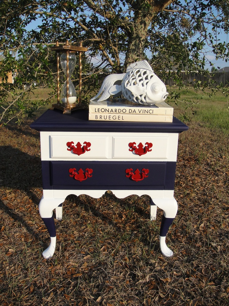 Queen Anne Nautical Nightstand. $150.00, via Etsy. Would be sweet as a dresser/changing table