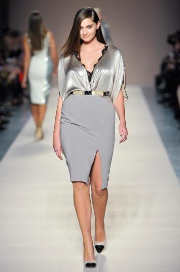Image detail for -moda size plus - Elena Miro jesień-zima 2012/13. Love the silk charmeuse.