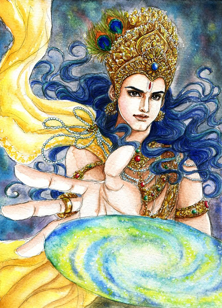 Fanart of Krishna,Mahabharat,by Snowcandy. CC:BY-NC-ND