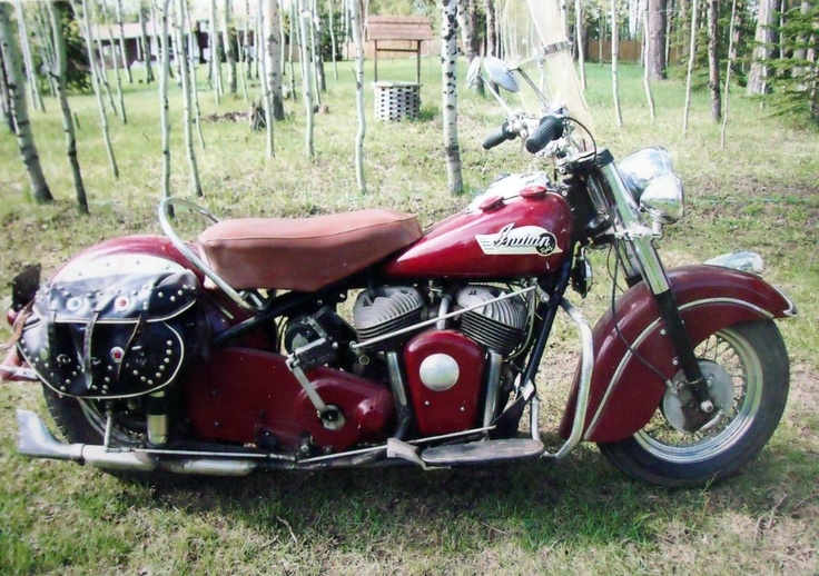 Pappy Hoyle's 1953 Indian Chief currently on display at the Sturgis Motorcycle Museum in Sturgis, SD