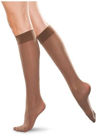 20-30 mmHg compression. Moderate support knee high stockings to help improve circulation, prevent moderate swelling and relieve tired achy legs. Soft comfort ba