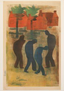 Hendrik Nicolaas Werkman -  'Vaders en zonen'-  A1868 - Postcard