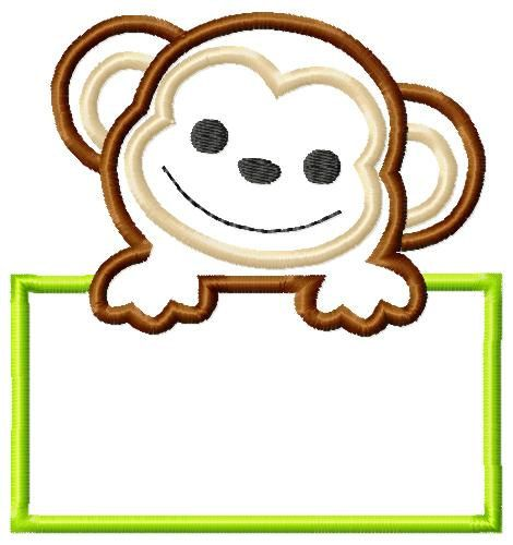 Boy Monkey Machine Embroidery Applique by SimplySweetEmbroider
