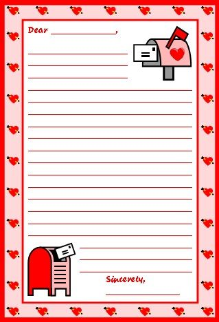 valentine's day writing craft