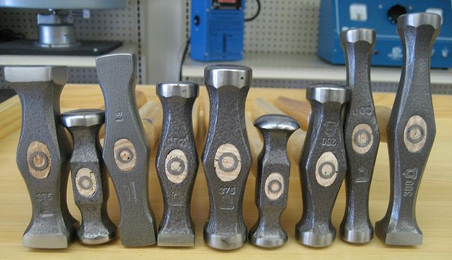 Good  blog about the different types of jeweler's hammers.