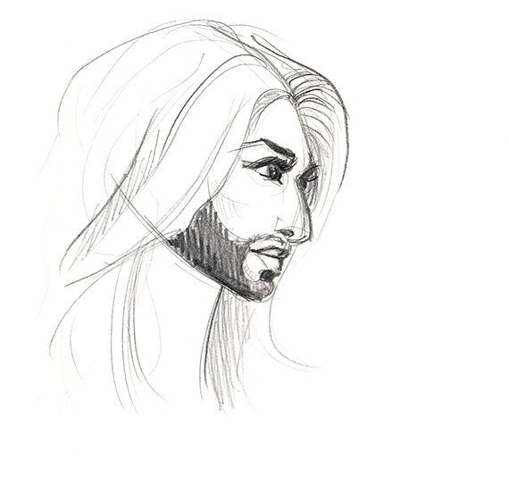 Conchita Wurst sketch by febrvarymoon.tumblr.com #drawing #art