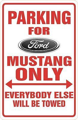 "Here is a miniature version of a PARKING SIGN MAGNET for yourself or your favorite Mustang driver! Magnet size is 2"" x 3 1/2"" (business card size). Perfect for your fridge or anywhere! We can also CUS"