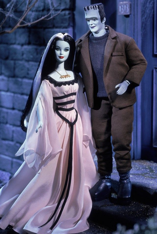 Barbie and Ken Dolls as The Munsters giftset. Collector Edition. Designed by…