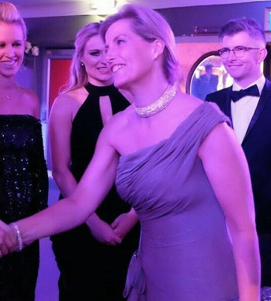 Yesterday evening, on December 7, 2016. Countess Sophie of Wessex, as Patron of England Hockey, attended the Golden Ball at the Tower of London. The event held to celebrate Great Britain Hockey women's team's Olympic Gold medal success.. The Countess of Wessex wore Bruce Oldfield gown.