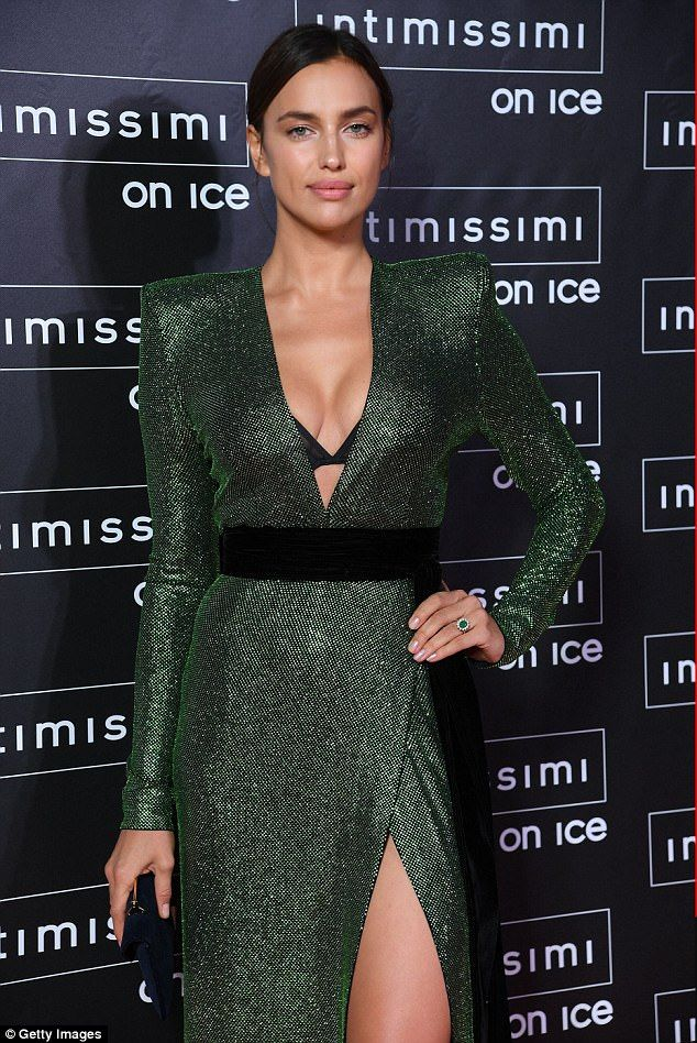 Driving them green with envy! Irina Shayk proved just why the underwear brand have kept her on for the last decade, as she attended the Opera on Ice show sponsored by the brand in Verona, Italy , on Friday