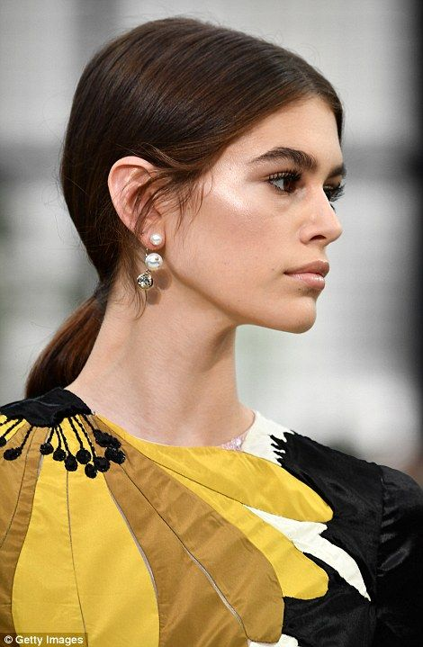0c4d8251781a6 Kaia Gerber continued her domination of international fashion weeks as she  took to the runway at the star-studded Valentino Paris Fashion Week show on  ...
