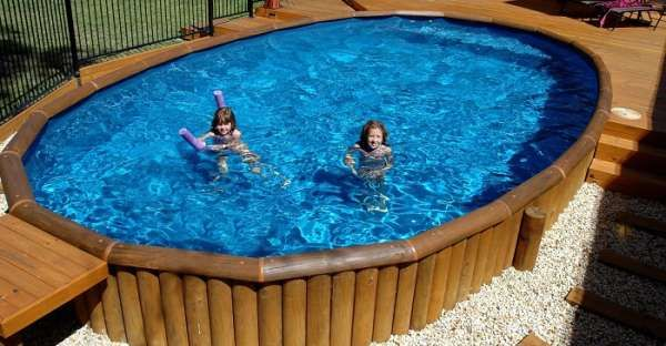 92 best log house interiors images on pinterest log - Above ground swimming pool rental ...
