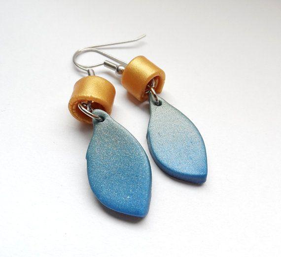 Simple polymer clay earrings
