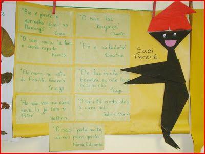 Ensinando com Carinho: Cartaz com frases sobre o Saci