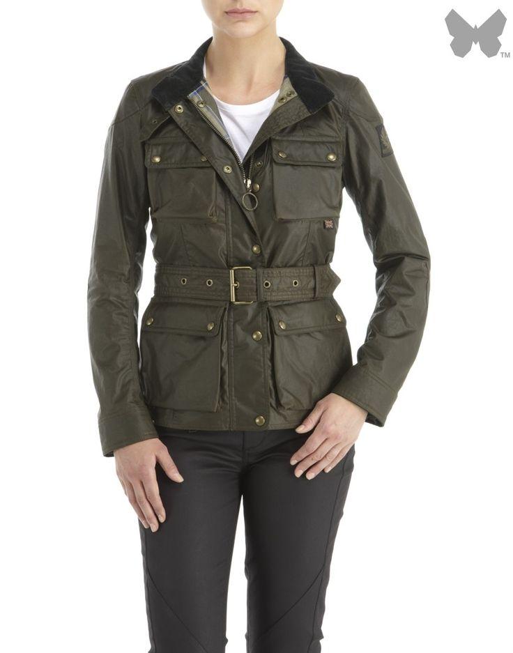 Belstaff Ladies' Roadmaster Jacket - Olive - Belstaff - Our Brands   Country Attire