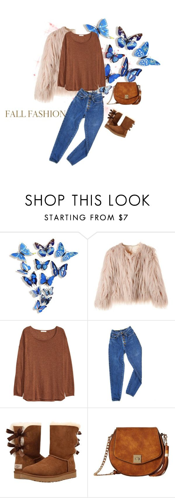 """""""FALL IS HERE !!!"""" by gigi-sessions ❤ liked on Polyvore featuring WALL, H&M, PèPè, UGG Australia and Gabriella Rocha"""