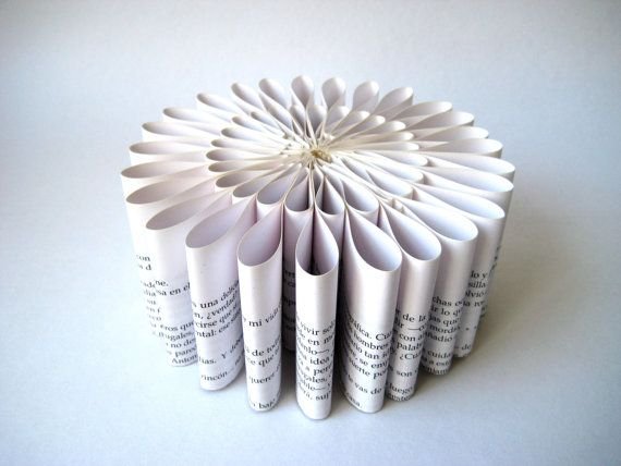 Paper sculpture round folded book