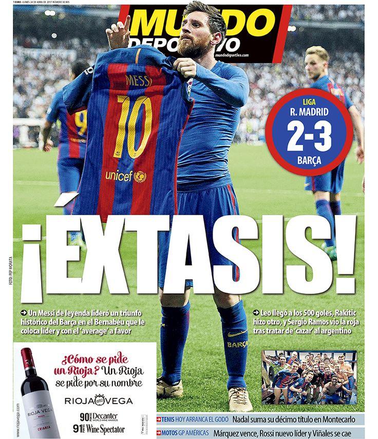 Portada Mundo Deportivo, lunes 24 de abril de 2017