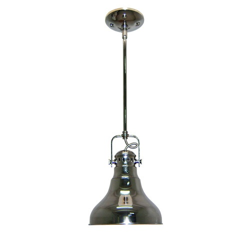 allen roth 8 1 in w polished nickel mini pendant light with metal s. Black Bedroom Furniture Sets. Home Design Ideas