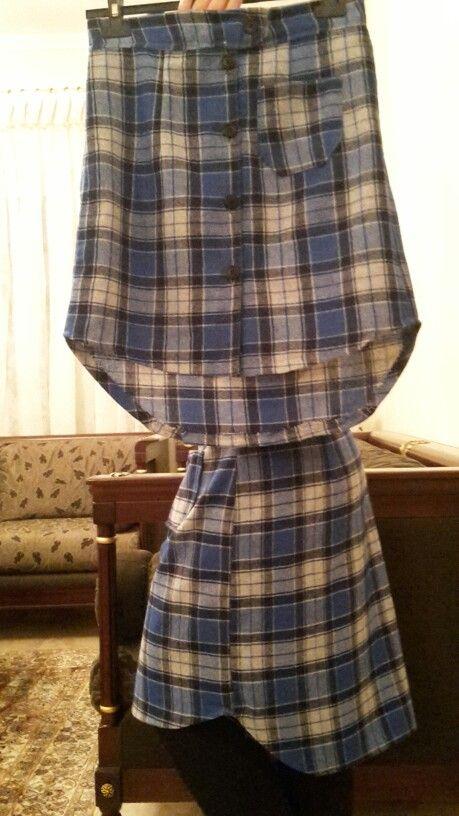 Φουστα στυλ πουκαμισο (μια για καθε κορη)