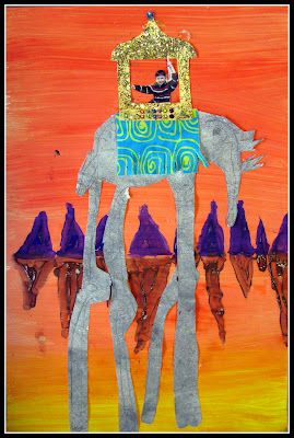 Dali's Surreal Elephants with child's photo - Love! from Plateau Art Studio