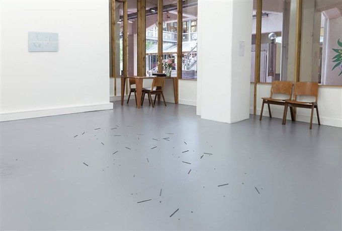 Richard Frater - Arranged nail parts for the floor