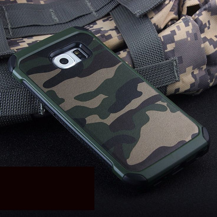 Army Camo Camouflage Pattern back cover TPU Armor Anti-knock protective case For Samsung Galaxy S5 S6 S7 Edge & S8 Plus S 6 7 8