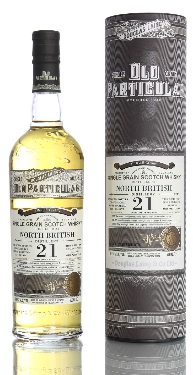 North British 21 Single Cask Grain whisky reviewed on: http://maltandoak.com/freds-grainy-day-douglas-laing-and-single-cask-grain-whisky/
