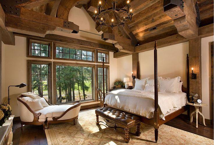 lodge look interior decorations | Bellegrey Interior Design | Lodge Style Bedroom