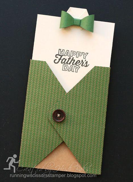 Masculine Sweater Pocket Card by RunningwScissorsStamper