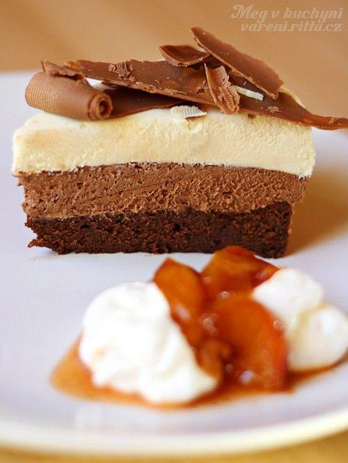 Trojitý čokoládovo-pěnový dort