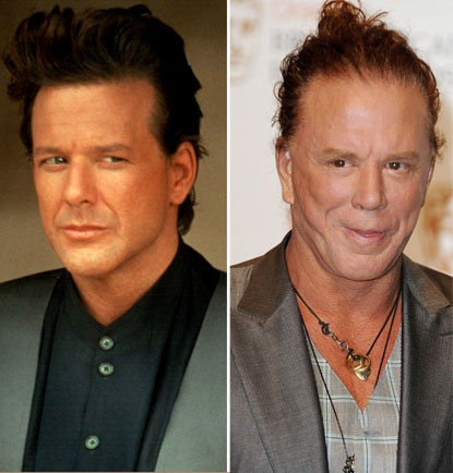 Chatter Busy: Mickey Rourke Plastic Surgery --- he was so better looking before ...why ? Just why?