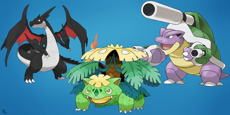 Shiny mega charizard y shiny mega venusaur and shiny - Pokemon tortank mega evolution ...