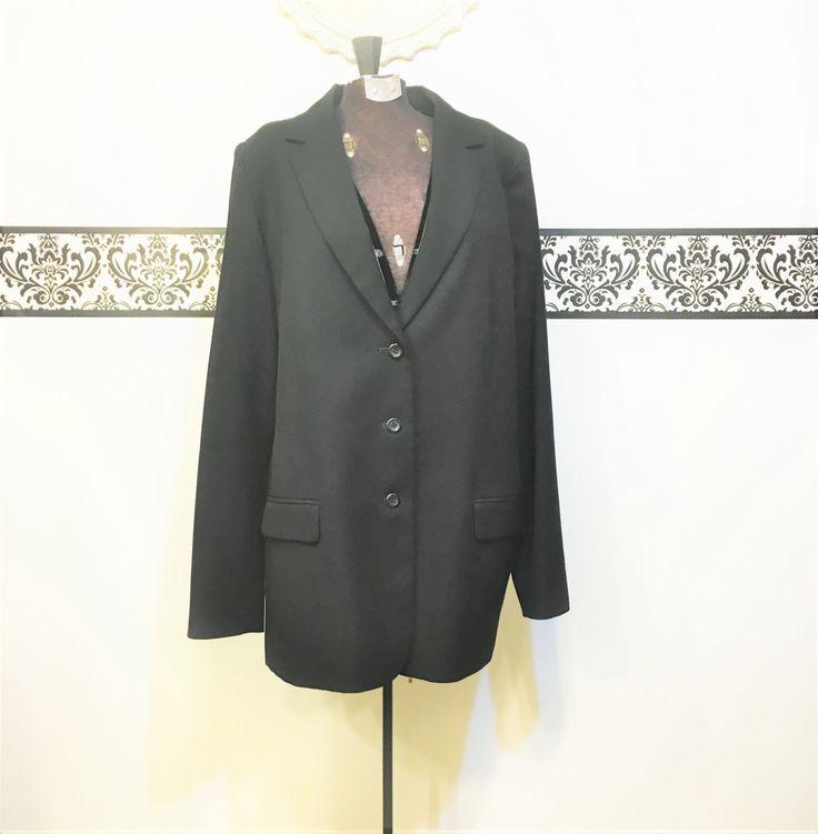1980's Wool Pendleton Black Blazer , Size 16, Size XXL,  Plus Size Vintage Pendleton Woolen Mills Hipster Jacket, 80s Black Pendleton Jacket by RetrosaurusRex on Etsy