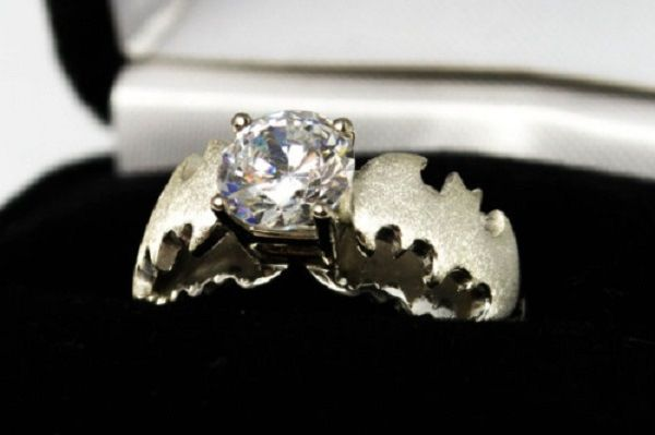 Batman-Themed Engagement Ring