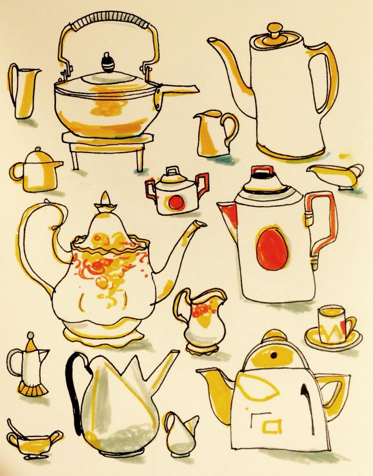 Tea or coffee? By Marie Åhfeldt - Mås Illustra.