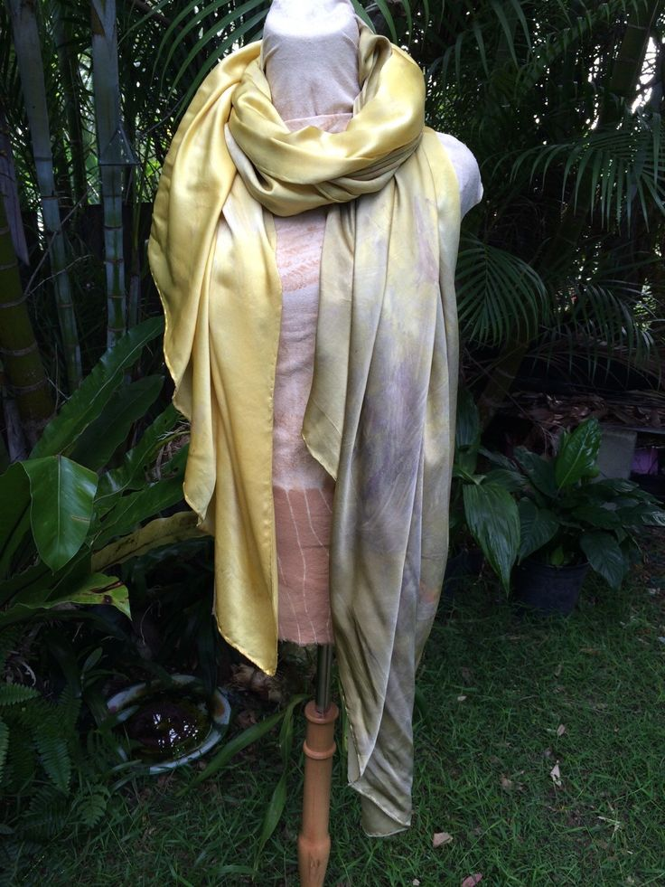 A personal favourite from my Etsy shop https://www.etsy.com/au/listing/267897831/golden-and-silver-plantdyed-pure-silk