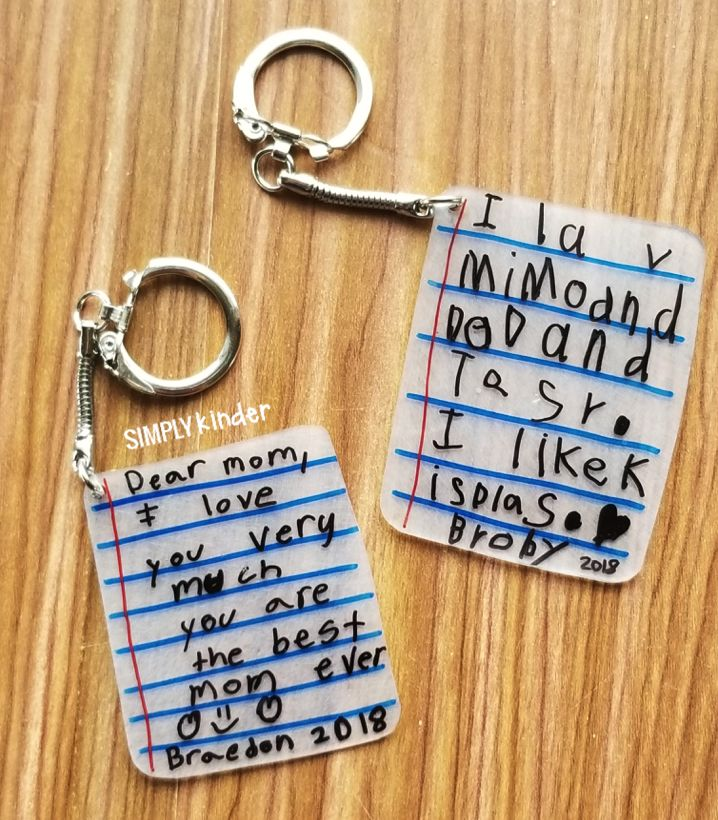 3b33e75a2188d191b566b7e7854412c8 Make these shrink film keepsake keychains with your students using Shrinky Dink ...