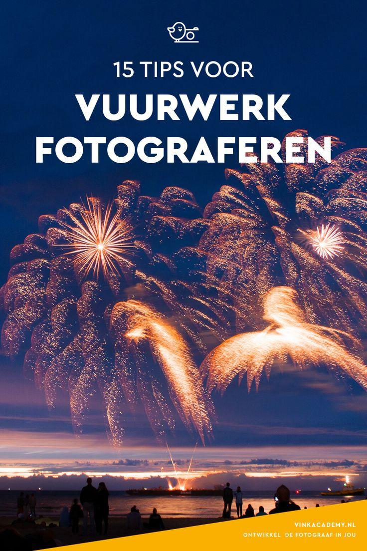 Wil jij met oudejaarsavond het vuurwerk mooi vastleggen? In dit artikel 15 tips voor het fotograferen van vuurwerk! Ook handig als je in de zomer de vuurwerkshop in Scheveningen bezoekt.   Fotografietips, fototips