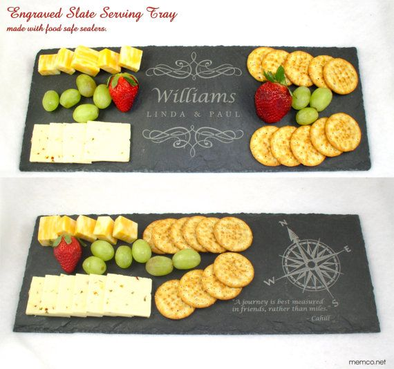 Engraved Personalized Slate Cheese Board by KillorglinCreations