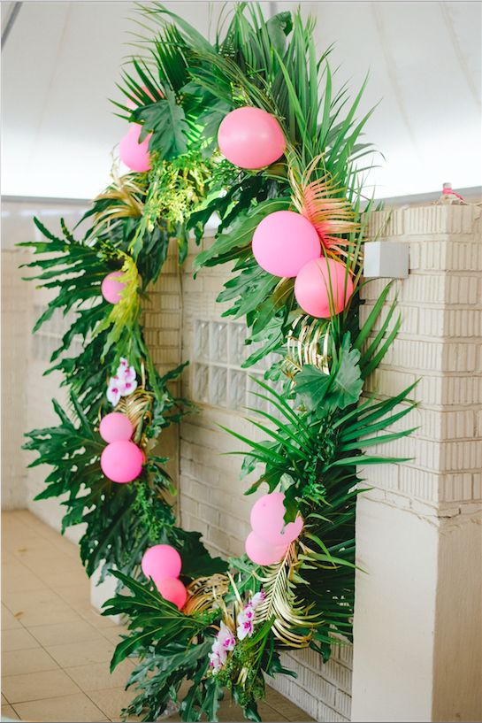 Jade & Daniel's Tropical Celebration Styling and planning: Oh Happy Day | Stationery design: Ruby and Swallow | Floral styling: Buds in a Ro | Imagery: Roxanne Davison Photography | Confectionery: Hello Duffymoon | Balloons: Celebrate Parties Store